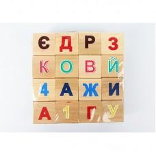 """Деревянные кубики """"Абетка"""" ВИННИ ПУХ"""