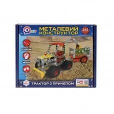 """Металлический конструктор """"Трактор с прицепом"""" ТЕХНОК"""