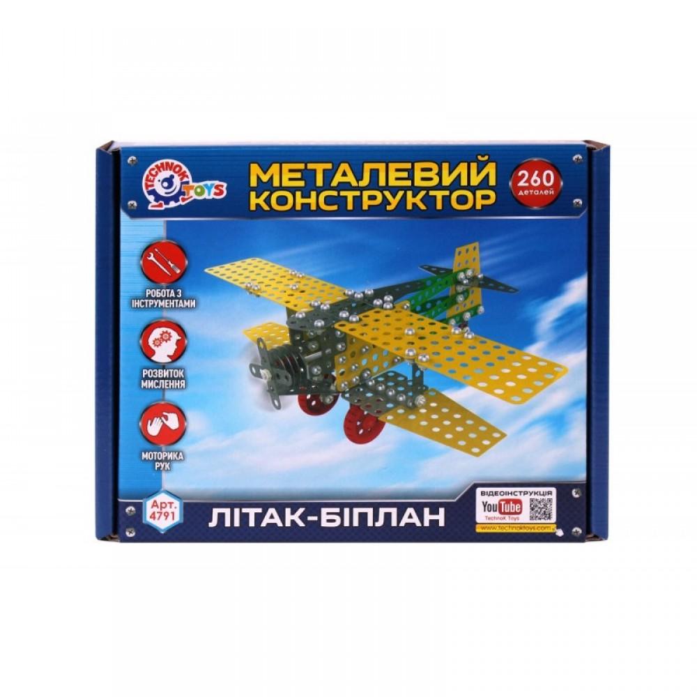 """Металлический конструктор """"Самолет"""" ТЕХНОК"""