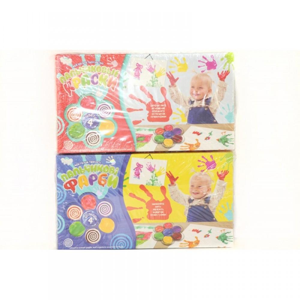 """Творчество """"Пальчиковые краски """"Моё первое творчество"""" 4 цвета в коробке ДАНКО - ТОЙС"""