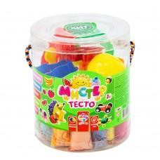 Тесто для лепки 22 цветов банках STRATEG