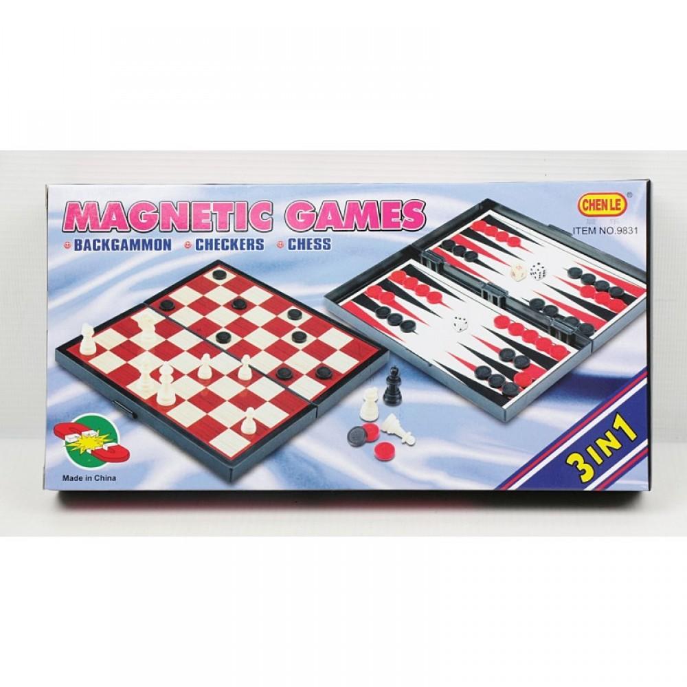 Шахматы 3 в 1 Магнитные игры