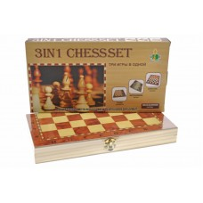 Шахматы 3 в 1 в коробке