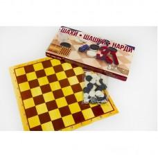 Шашки шахматы, нарды в коробке СЕГЕНЕВИЧ