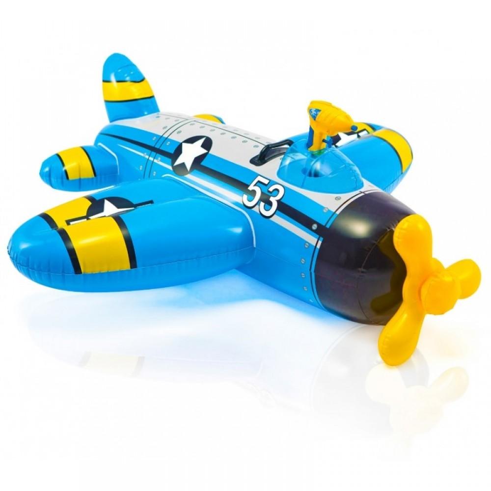 """Надувной """"Самолёт"""" в коробке 132*130 см. INTEX"""