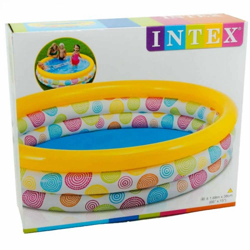 "Бассейн ""Квадратики"" в коробке 168*41 см. INTEX"