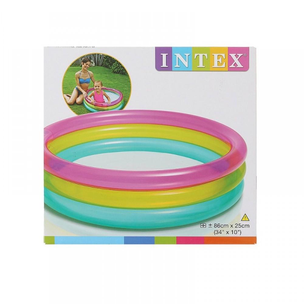 """Бассейн """"Радуга"""" в коробке 86*25 см. INTEX"""