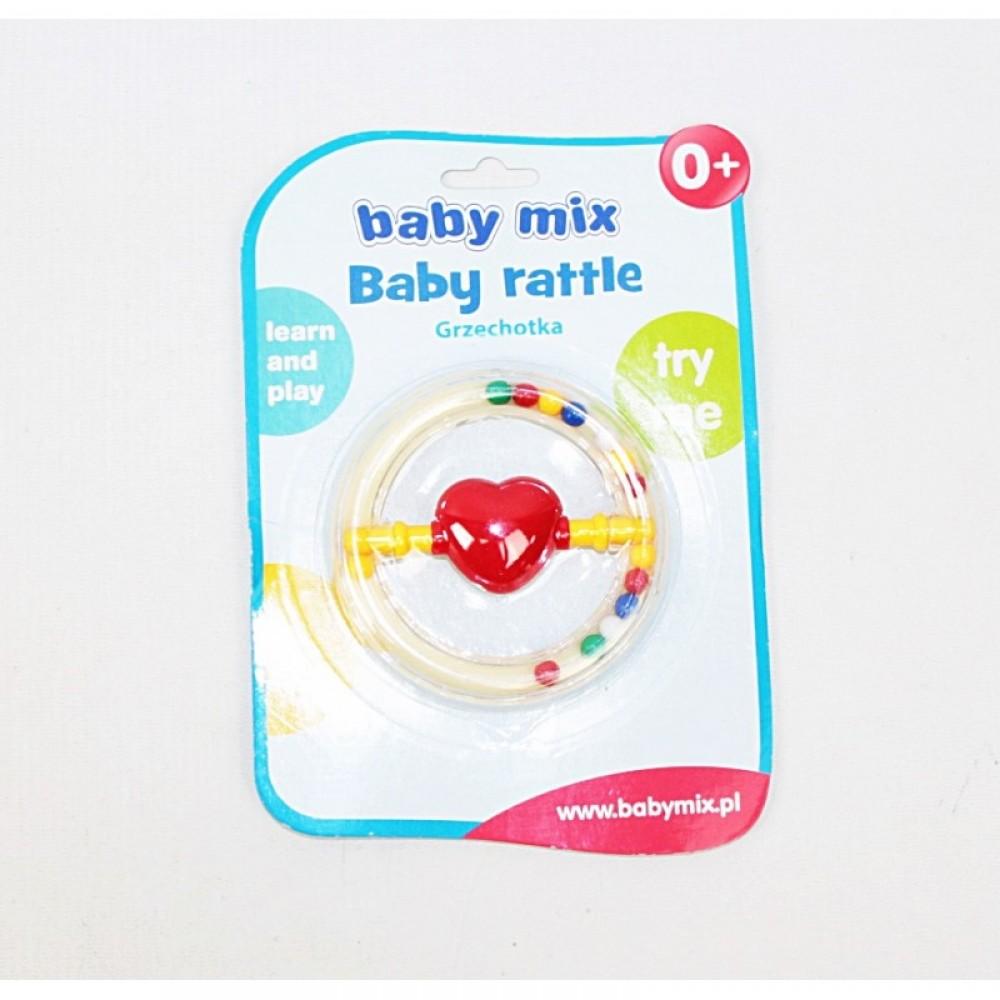 """BABY MIX Погремушка """"Круг с сердцем"""""""
