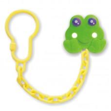 BABY MIX Цепочка для пустышки с клипсой - жабка