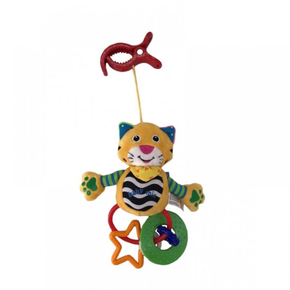 """BABY MIX Подвеска на клипсе плюшевая """"Тигр"""""""