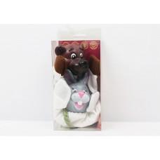 """Кукольный театр - перчатка """"Медведь и заяц"""" в коробке ЧУДИСАМ"""