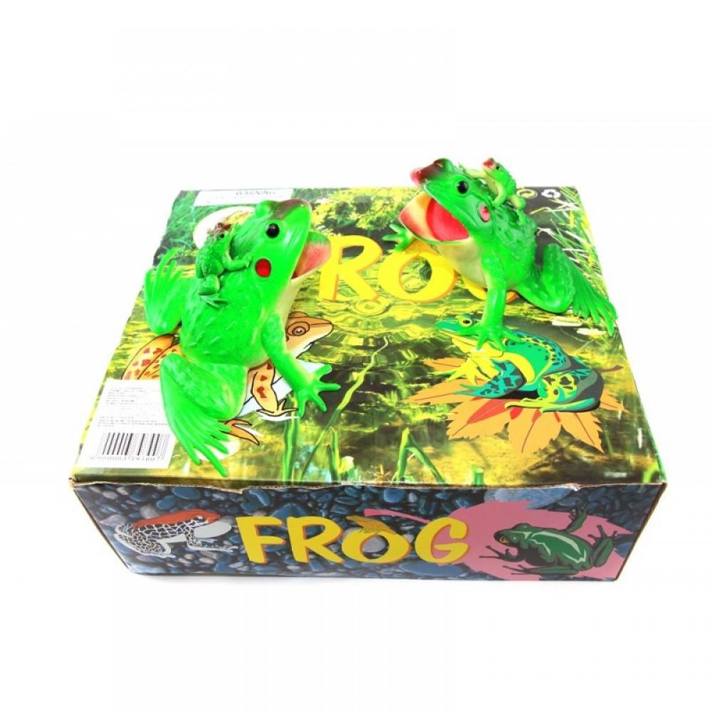 Животные лягушка резиновая 12 шт. в коробке