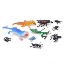 Животные рептилии, насекомые в пакете