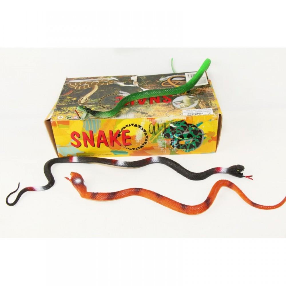 Животные змея резиновая 24 шт. в коробке