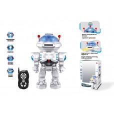 Робот Р.У. в коробке стреляет дисками