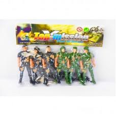 Военный набор - солдатики 6 шт. в пакете