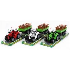 Трактор под слюдой с прицепом
