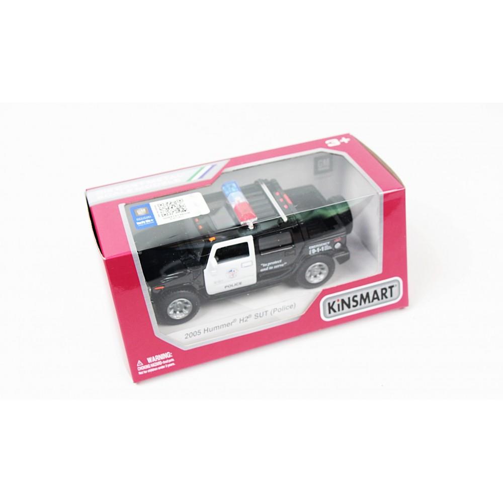 """KINSMART Мет. машина """"Hummer H2 SUT Police"""""""