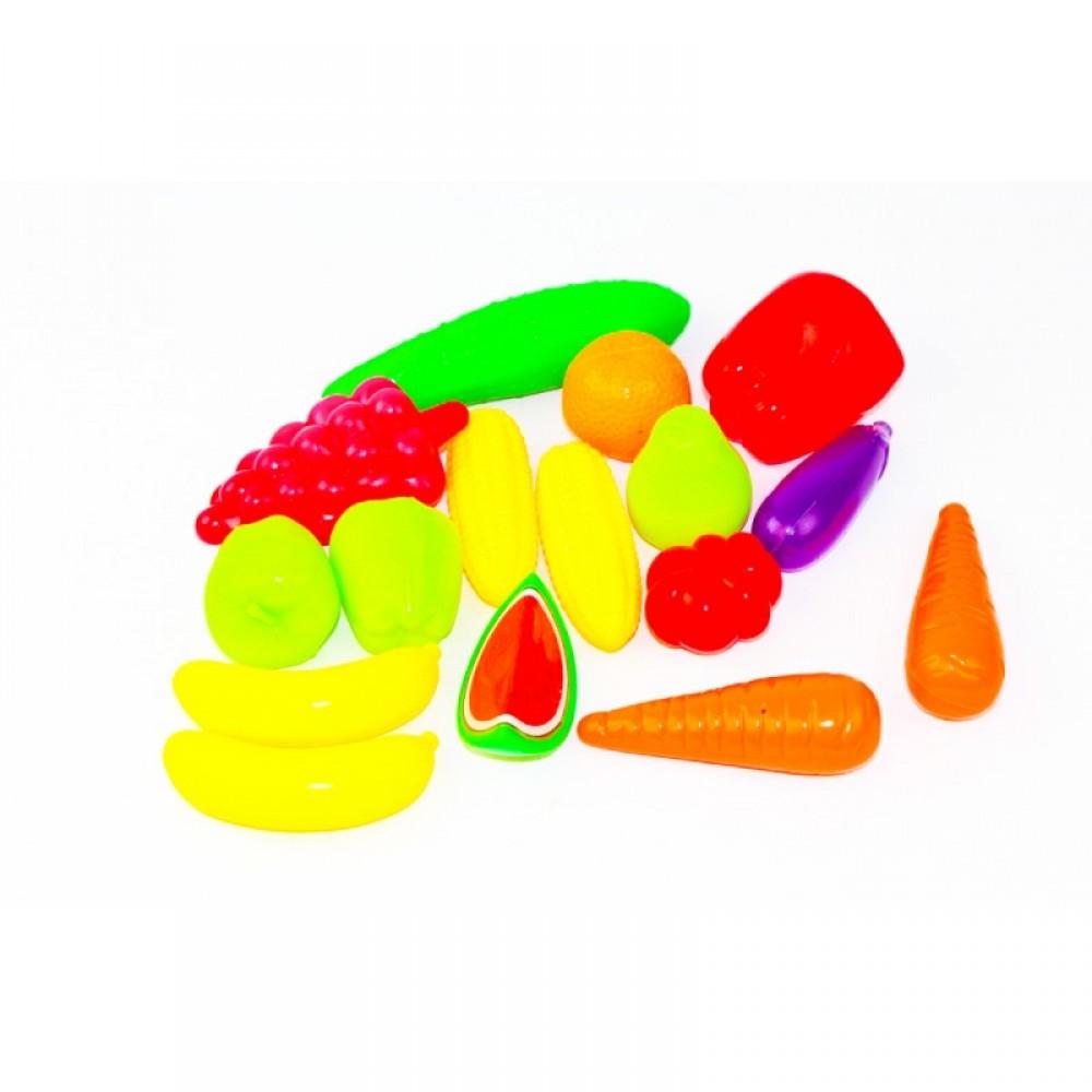Продукты - фрукты, овощи 16 шт в сетке ОРИОН