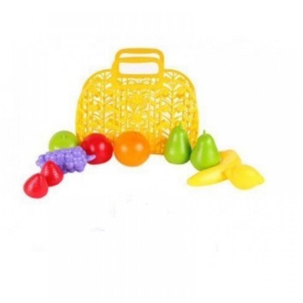 Продукты - фрукты 10 шт. в корзине ТЕХНОК