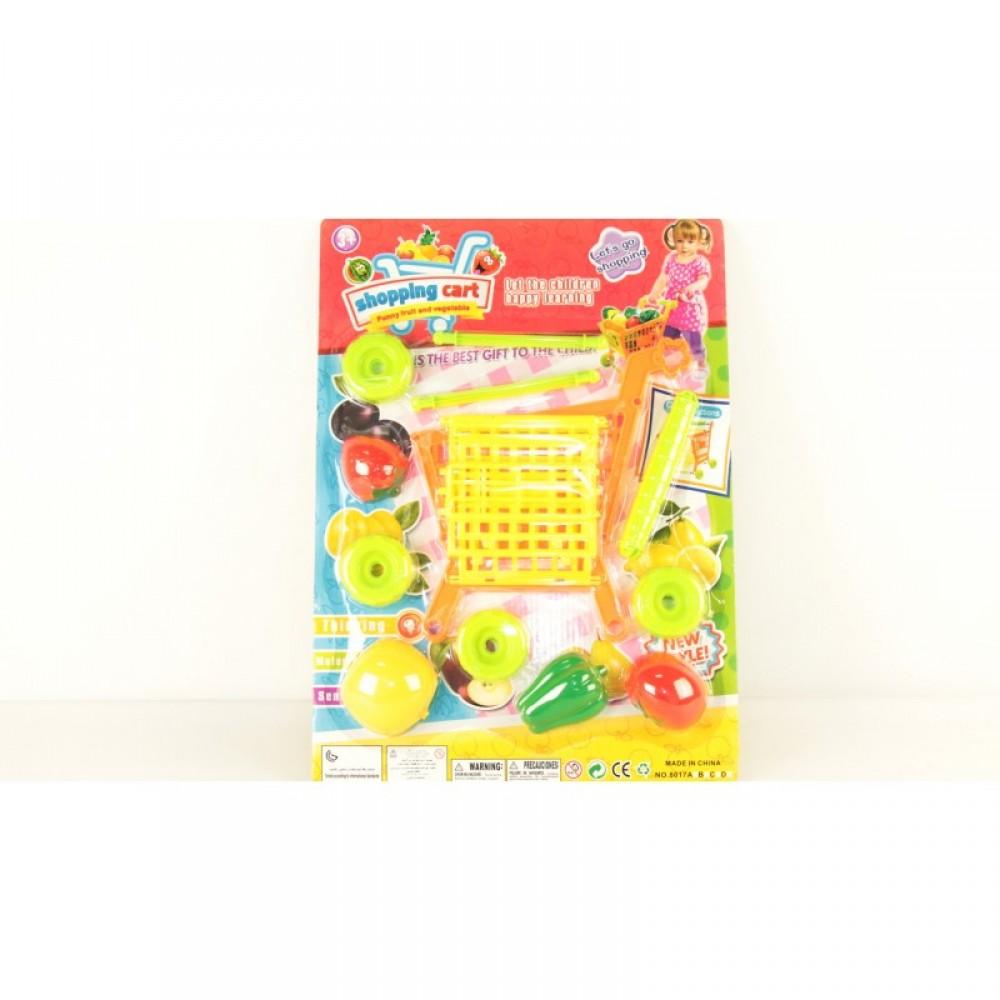 Продукты - фрукты и овощи на планшете