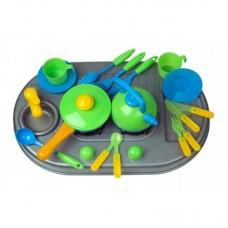 Посуда с мойкой и плитой KINDERWAY