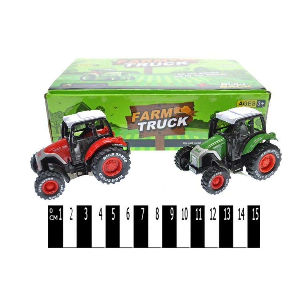 Мет. трактор 6 шт. в коробке