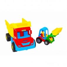WADER Самосвал с трактором в сетке