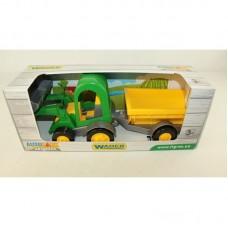 WADER Трактор - багги с ковшом и прицепом