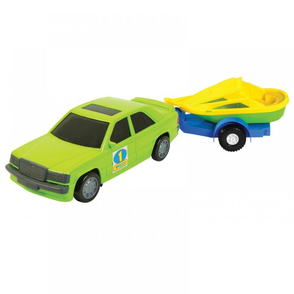 WADER Авто - мерс с прицепом