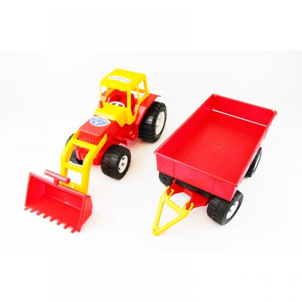 БАМСИК Трактор с ковшом и прицепом