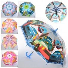 Зонтик детский MK 4051 (120шт) длина66см, трость61