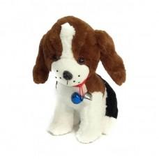 Мягкая собачка с колокольчиком 32 см.
