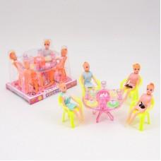 Столовая A8-851 (90шт) стол,стулья, кукла4шт,посуд