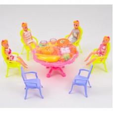 Столовая A8-904 (36шт) стол, 4 стула, кукла 4шт, п