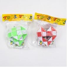 Игра головоломка, змейка, 2 цвета, в кульке, 6,5-6