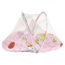 Коврик для младенца с маскитной сеткой, подушкой