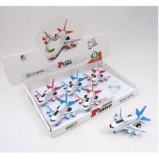 Самолет 7709 (72шт) инер-й,18см,муз,3Dсвет,на бат