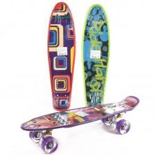 Скейт пенни-принт, колеса светятся ПУ, металлическая подвска