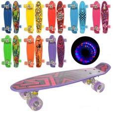 Скейт пенни, колесаПУ свет, рисунок,8видов