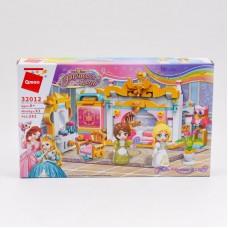 Конструктор принцессы, комната, фигурки, 282 дет.